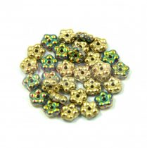 Cseh préselt virág gyöngy - 5mm