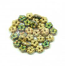 Cseh préselt virág gyöngy - Crystal California Meadow - 5mm