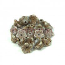 Cseh préselt virág gyöngy - harangvirág - 7x5mm