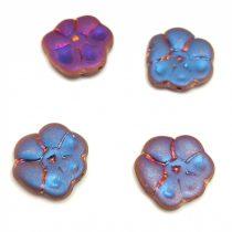 Czech Pressed Glass Bead - Primrose - Crystal Matt Sliperit - 15mm