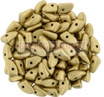 Czech Mates Prong - Matte Metallic Gold - 3x6mm