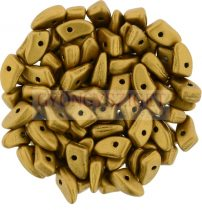 Czech Mates Prong - Matte Metallic antique Gold - 3x6mm