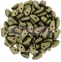 Czech Mates Prong - Matte Metallic Clay - 3x6mm