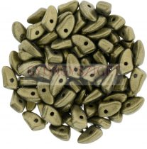 Czech Mates Prong - Matte Metallic Clay - 3x6mm