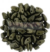 Czech Mates Prong - Matte Metallic Dark Green - 3x6mm