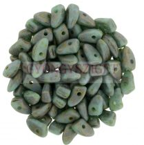 Czech Mates Prong - Matte Turquoise Picasso - 3x6mm