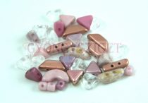 Puca mixed beads - Pink - 5g