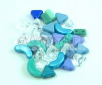 Puca mixed beads - turquoise - 5g