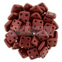 Cseh négylyukú négyzet - Quadra Tile gyöngy -  Matte Lavared - 6x6mm