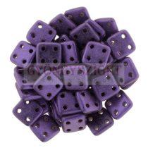 Cseh négylyukú négyzet - Quadra Tile gyöngy -  Matte Metallic Purple - 6x6mm