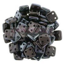 Cseh négylyukú négyzet - Quadra Tile gyöngy -  Metallic Amethyst Luster - 6x6mm
