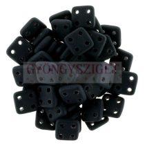 Cseh négylyukú négyzet - Quadra Tile gyöngy -  Matte Black - 6x6mm