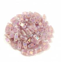 Miyuki Quarter Tila bead - 142fr - Matte Transparent Smoky Amethyst AB - 1.2 x 5mm