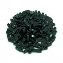 Miyuki Quarter Tila bead - 401 - Opaque Black - 1.2 x 5mm