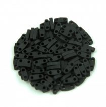 Miyuki Quarter Tila bead - 401f - Opaque Frosted Black - 1.2 x 5mm