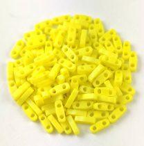 Miyuki Quarter Tila bead - 404fr - Opaque Matte Yellow AB - 1.2 x 5mm