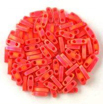 Miyuki Quarter Tila bead - 406fr - Opaque Matte Orange AB - 1.2 x 5mm