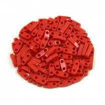 Miyuki Quarter Tila bead - 408 - Opaque Dark Red - 1.2 x 5mm