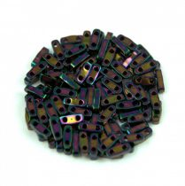 Miyuki Quarter Tila gyöngy - 454 - Metallic Dark Plum - 1.2 x 5mm