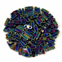 Miyuki Quarter Tila bead - 455 - Metallic Variegated Blue Iris - 1.2 x 5mm