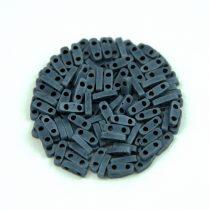 Miyuki Quarter Tila gyöngy - 2001 - Matte Metallic Gunmetal - 1.2 x 5mm