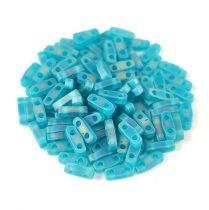Miyuki Quarter Tila gyöngy - 2405fr - Matte Transparent Teal AB - 1.2 x 5mm
