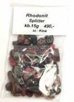 Rhodonit gyöngy - splitter - 15g