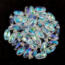 Rizo - Czech Glass Bead - crystal ab - 2.5x6mm