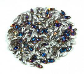 Rizo gyöngy-bermuda blue-2,5x6mm