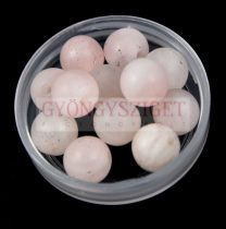 Rózsakvarc gyöngy - 6mm - matt