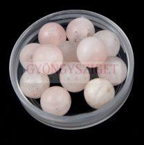Rózsakvarc gyöngy - 6mm - matt - szálon