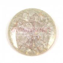 Roppantott üveg gyöngy - Light Amethyst - 20mm
