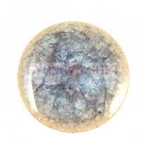 Roppantott üveg gyöngy - Light Sapphire - 20mm