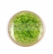 Roppantott üveg gyöngy - Lime - 20mm