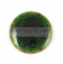 Roppantott üveg gyöngy - Moss - 20mm