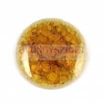 Roppantott üveg gyöngy - Topaz - 20mm