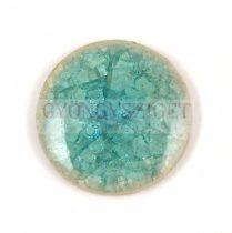 Roppantott üveg gyöngy - Turquoise - 20mm