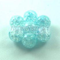 Roppantott üveg gyöngy - Blue - 10mm