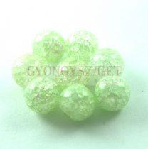 Roppantott üveg gyöngy - Green - 8mm
