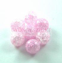 Roppantott üveg gyöngy - Light Rose - 10mm