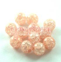 Roppantott üveg gyöngy - Peach - 8mm