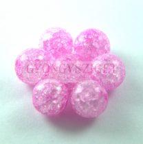 Roppantott üveg gyöngy - Rose - 10mm