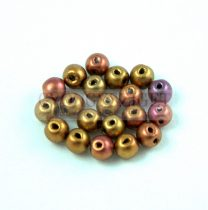 RounDuo gyöngy - Ancient Gold - 4mm
