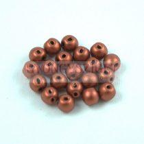 RounDuo gyöngy - Matt Metallic Copper - 4mm