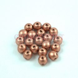 RounDuo gyöngy - Metallic Vintage Copper - 4mm