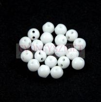 RounDuo gyöngy - Opaque White - 4mm