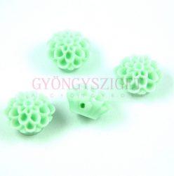 Műanyag alul fúrt rózsa gyöngy - Light Green - 14mm