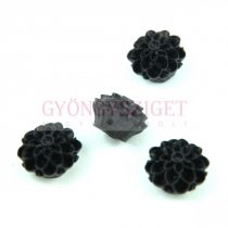 Plastic rose bead - Black - 14mm