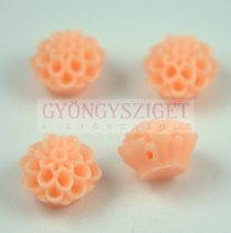 Műanyag alul fúrt rózsa gyöngy - Peach - 14mm