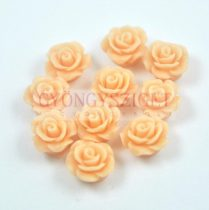 Plastic rose bead - Peach - 10mm